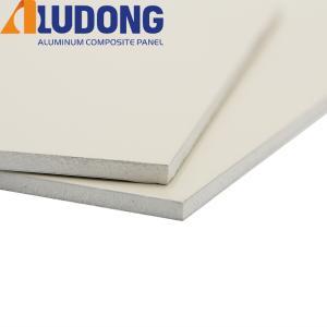 China White Core PE Aluminum Composite Panel ACM Fireproof B1 wholesale