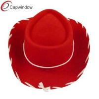 China Red Popular Fisherman Bucket Hat with Wool / Woody Kids Cowboy Hat wholesale
