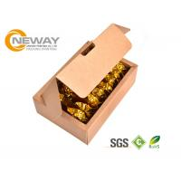 Quality Custom Printed Kraft Elite Paper Elegant Box , Recycle Gift Paper Rigid Box for sale