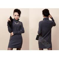 China Solid Color Elegant Womens Turtleneck Sweaters in Fine Knit , Long Cashmere Sweater wholesale