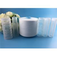 Wholesale High Strength 100% Virgin Spun Polyester 50/2 Yarn for Sewing Thread Raw White from china suppliers