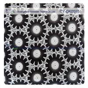 China Fashion Big Black Floral Cotton Lace Fabric , 50% Cotton 50% Polyester wholesale
