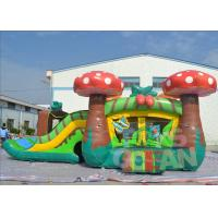 China Jumping Childrens Inflatable Bouncer Combo Mushroom Moonwalk With Slide wholesale