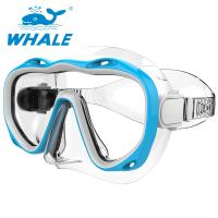 China Wide View Silicone Diving Mask Distortion Free With Tempered Glass Lens wholesale
