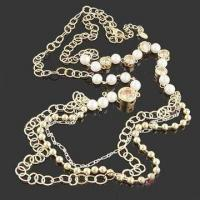 China Fashionable Necklace with Crystal Beads, Imitation Pearl and Zircon, Available in Various Designs wholesale