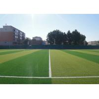 Smooth Outdoor Sports Flooring / PE Artificial Turf With Double Color
