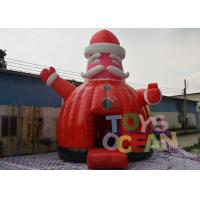 China Santa Claus Theme Jumping Inflatable Bouncer House For Christmas Event wholesale