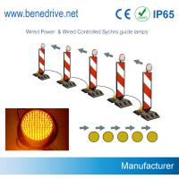 China Dia. 200mm Solar LED Sequencial Flashing Barricade Lights Synchronized Guidance System wholesale