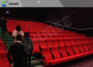 China Cost-Effective Red Folded PU Leather Chair For 50-120 People 3D Cinema wholesale