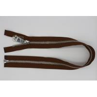 China Euro Type Metal Open Ended Zips For Jackets , 36 Inch / 26 Inch Metal Zipper 8# wholesale