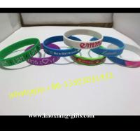 China high quality custom Style and Printed Technique silicone wristband/ bracelets wholesale