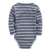 China Autumn Stripe Organic Cotton Long Sleeve Baby Romper Customized Color wholesale