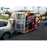 China Funny and Realistic Truck Mobile 5D Cinema With Motion Luxurious Seat wholesale