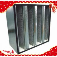 China 610x610x292mm galvanised (GI) frame large air flow active carbon V bank / V-cell filter wholesale