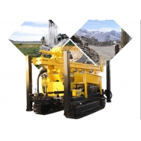 China 300 Meter Hydraulic Crawler Rotary Dth Water Well Drilling Rig Machine wholesale