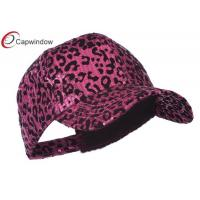 China Polyester Hip Hop Baseball Caps Fuchsia Animal Leopard Print Sequin wholesale