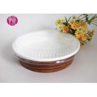 China 10oz Single Wall Paper Salad Bowls With Flat Lid Waterproof Wood Deisgn wholesale