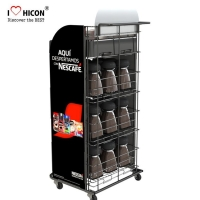 China Coffee Shop Display Furniture POP Coffee Bag or Mug Display Rack wholesale