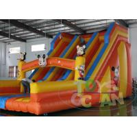 China Cartoon Giant Inflatable Slides 0.55mm PVC Vinyl Tarpaulin For Outdoor / Indoor wholesale