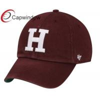 Quality Harvard Crimson Red Franchise Fitted Baseball Hats / College Cotton Baseball Caps for Adults for sale