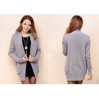 China Long Fine Knit Womens Cashmere Sweaters , Solid Color Womens Cardigan Sweaters wholesale