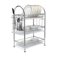 Quality Dish Rack Stainless Steel Two Tier Draining Rack Rustless Storage Rack with for sale