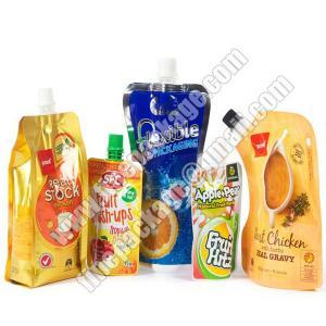 China liquid stand up pouch with spout, drink spout bag, drink spout pouches wholesale