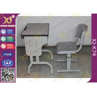 China Durable School Desk And Chair for Kids Study , Plywood Desk Top With PVC Edge wholesale