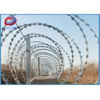 China Anti Climbing Concertina Razor Barbed Wire Hot Dipped Galvanized Fence Wire BTO-22 on sale