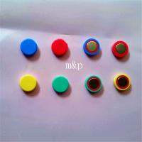 Powerful decorative disc shaped small colored magnets 8mm for Small round magnets crafts