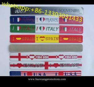 China cheap custom silicone slap bracelet, pvc reflector snap bangle / slap band /wristband wholesale