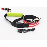 China Large Adjustable Safety Rechargeable LED Dog Leash And Collar Set 120cm on sale