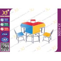 China 5 Years Warranty Metal Frame MDF Table Top Desk And Chair Set For Training Room wholesale