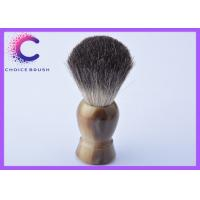 China Deluxe faux horn black badger shaving brushes for barber shop wholesale