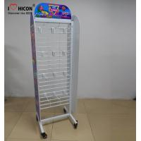 China Movable Retail Store Fixtures , Metal Candy Retail Shop Display Shelving wholesale