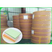China FSC Pure Wood Pulp Colored Green Offset Printing Paper Color Designated 70CM 100CM on sale