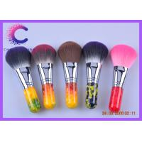 China Professional Face Makeup Brushes Cosmetic Tools with color acrylic handle wholesale