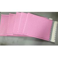 China Custom Aluminum Foil Pink Metallic Bubble Envelope Moisture Proof wholesale