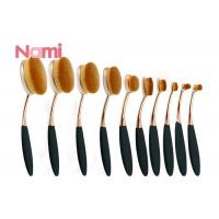 China Soft Eye Makeup Brushes , Oval Cosmetic Brush Set Natural Pure Goat Hair Material on sale