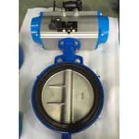 China DN65 Soft Seal Centerline Butterfly Valves Wafer Type With Pneumatic Actuator wholesale