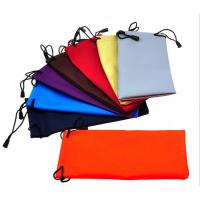 China Microfiber Cloth Glass Case Microfiber Clothing Pouches For Glass on sale