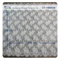 Buy cheap Nylon Ivory Floral Scalloped Edged Normal Dyeing Bridal Dress Lace Fabric from wholesalers