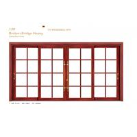 China Small Glass Aluminium Sliding Door Internal 1.6 mm Thickness For School wholesale