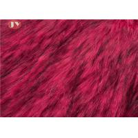 China Tip Dyeing Plush Faux Fur Fabric Red Acrylic For Garments Auto Upholstery on sale