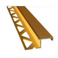 Quality Aluminum Tile Trim / Aluminum Extrusion Profile with Golden Anodized Color for sale