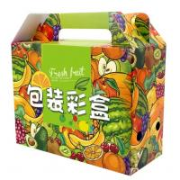 China Flat Packing Color Printed Corrugated Paper Box For Fruit Packaging wholesale