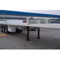 China Skeleton Flatbed Container Trailer / Aluminum Flatbed Semi Trailer 3 Tire wholesale