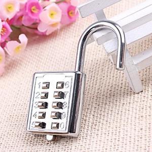 China Mini Push Button Code Resettable Combination Padlock 10 Pin Sports Locker wholesale