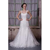 China New Designer Strap Sweetheart Ivory Mermaid Romantic Lace Wedding Gowns Dresses With Beads wholesale