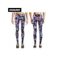 China Fancy Girls Fitness Streachable Gym Compression Tights Polyester / Spandex Fabric wholesale